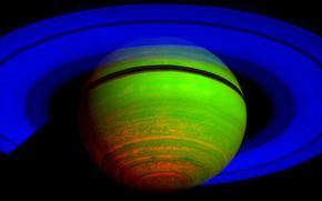 miejsce, planeta, Planeta, Saturn