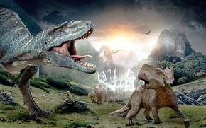 動物, モンスター, 恐竜, 恐竜, 捕食
