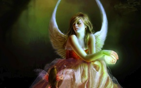 fantasy, Fantasy, miscellanea, Girls, angel
