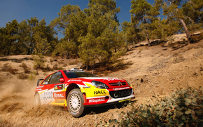 LIGHTS, Citroen, Sport, SLOPE, Rally, Car, Front, machine, sky, in motion, trees