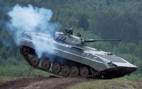 учения, танкодром, прыжок, боевая машина пехоты, БМП