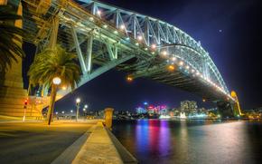 Sydney, Porto, Bridge at Night