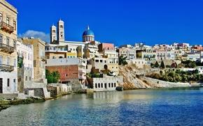 Cicladi, Syros, costa, Mar Egeo, natura, isola, domestico, Grecia