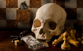 style, taro, cards, Vintage, skull, CHESS, retro, crucifix