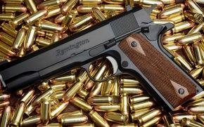 munição, lote, pistola