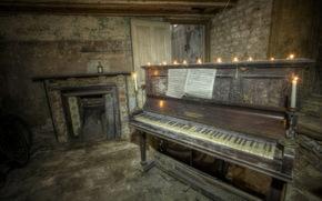 sfondo, pianoforte, musica