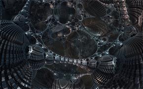 конструкция, абстракция, фантастика, металл, структура