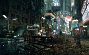 Blade Runner, street, police car