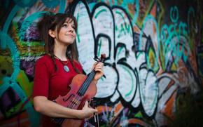 Lindsey Stirling, beauty, violin