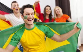 championship, football, flag, World Cup