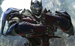 Transformers: The era of destruction, iron, Autobot, metal, Michael Bay, sword, Rocks, Optimus Prime, head