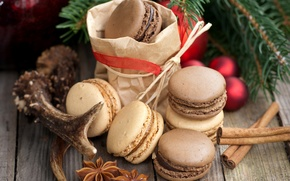 сладости, елочная, шоколадное, пряности, праздники, макарун, шарики, бадьян, ветка, печенье, анис, корица, десерт