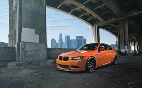 ponte, Supporti, vista frontale, BMW, BMW, arancione