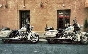 motorcycles, Highway Patrol, police, motorcycles, street