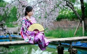 стиль, лето, девушка, азиатка