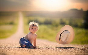 SPACE, wind, hat, baby, bokeh, road