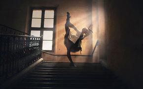 ladder, home, girl, STEPS, dance