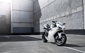 белый, блик, мотоцикл, Мотоциклы, дукати, полосы, тень