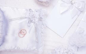 Flores, tarjeta, Anillos, amortiguar, boda