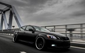 Машина, Тюнинг, Черный цвет, Лексус, Авто, Lexus
