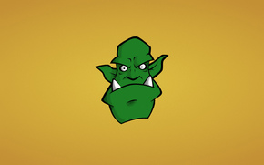 canines, orc, head, minimalism, Green, monster, Snout