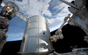 ソユーズTMA, ISS, 土地, スペース, シャトル, ディスカバリーの最後の飛行