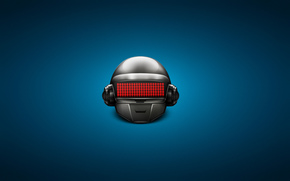 техно, хаус, электроник-рок, синий фон, шлем