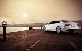 Audi, автообои, ауди, набережная