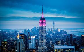город, нью йорк, америка, сша, небоскребы