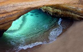 海洋, 岩石, 石窟, 海滩