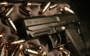 arma, muitos cartuchos, pistola