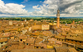 building, Tuscany, Italy, panorama, Sienna, Roof