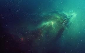 nebulosa, espacio, Estrella