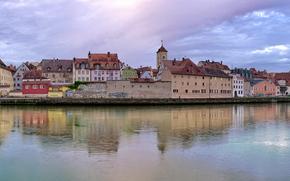 Regensburg, Regensburg, Germany, Bayern, panorama