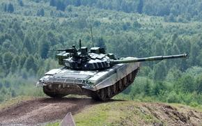 estrada, tanque, tankodrom, ensino