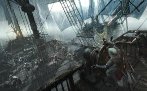 asesino, lluvia, Piratas, Asesino, tormenta, enviar, Edward Kenuey