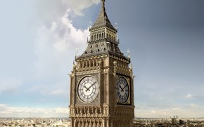 England, City, tower