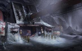 situazione, John Carver, costruzione, Isaac Clarke, montagna, armatura, Pilastri, Supporti, nevicata, tubo, attrezzatura, Art, Dead Space