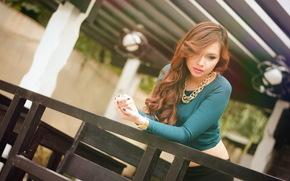 девушка, стиль, азиатка