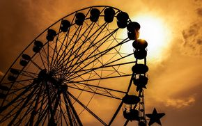 закат, аттракцион, красивые картинки, воспоминания, колесо обозрения, черный, настроения, полноэкранные, обои, силуэт, широкоформатные, время, солнце, широкоэкранные, небо, ностальгия