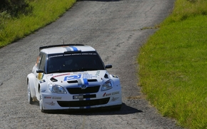 white, Other brands, Front, road, Competitions, Rally, asphalt
