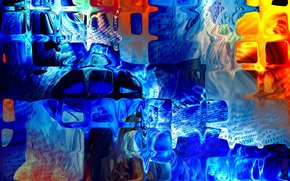 abstracción, vidrio, color