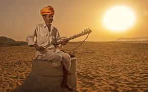 Индия, музыка, человек, инструмент