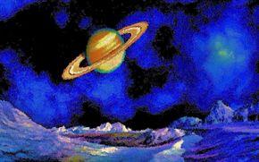 espacio, 3d, arte