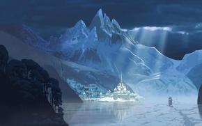 Erendell, Cold Heart, disney, inverno, Montagne, castello, porto
