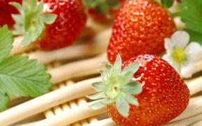 клубника, ягода, еда, витамины