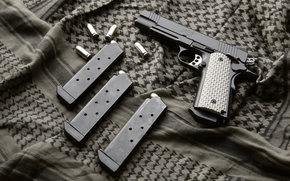 пистолет, ткань, оружие, магазины