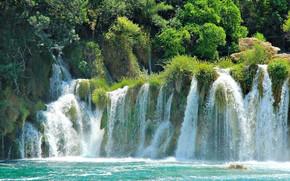 Les lacs de Plitvice, Croatie, parc national, cascades