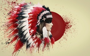 Roach, Injun, blood, plumage