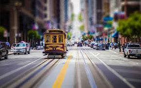 Tram, street, Frisco